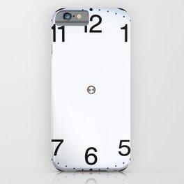 Wall clock black white iPhone Case