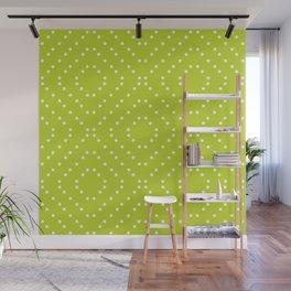 Geometric dots on lime Wall Mural