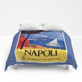 Napels Italy retro vintage travel ad Comforters