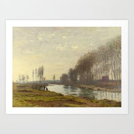The Petite Bras of the Seine at Argenteuil by Claude Monet Art Print