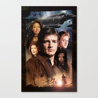 firefly Canvas Prints featuring Firefly by SB Art Productions