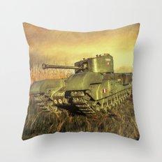 Churchill Tank  Throw Pillow