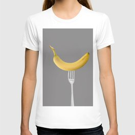 Bananas Pattern - grey T-shirt