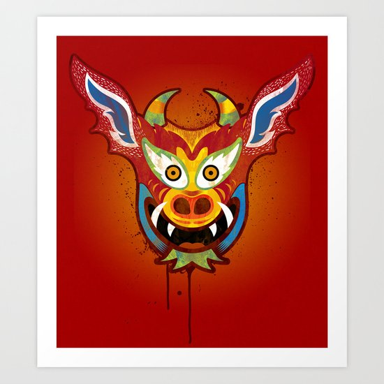 Yare Devil Mask Art Print