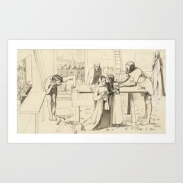 Sir John Everett Millais, Bt 1829–1896   Study for 'Christ in the House of His Parents' Art Print
