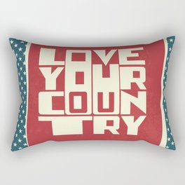 Love Your Country Rectangular Pillow