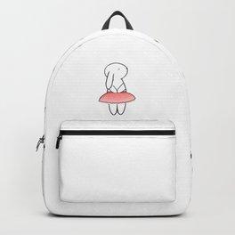 Bunllerina White Backpack