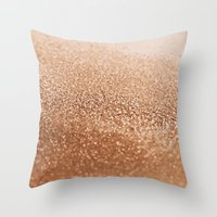 copper Throw Pillows featuring COPPER by Monika Strigel