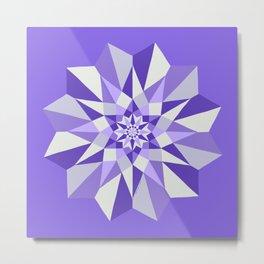 Diamond Purple Mandala Metal Print