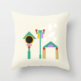 The Midway of Life Throw Pillow