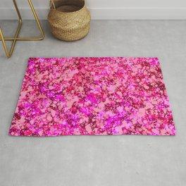 Spring Cherry Blossom Sakura Abstract Painting Rug
