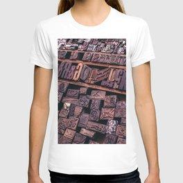 Wood Letterpress T-shirt