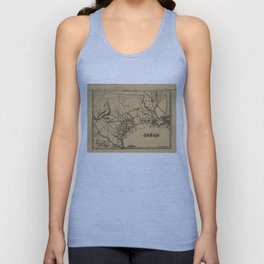Vintage Map of Texas (1838) Unisex Tank Top