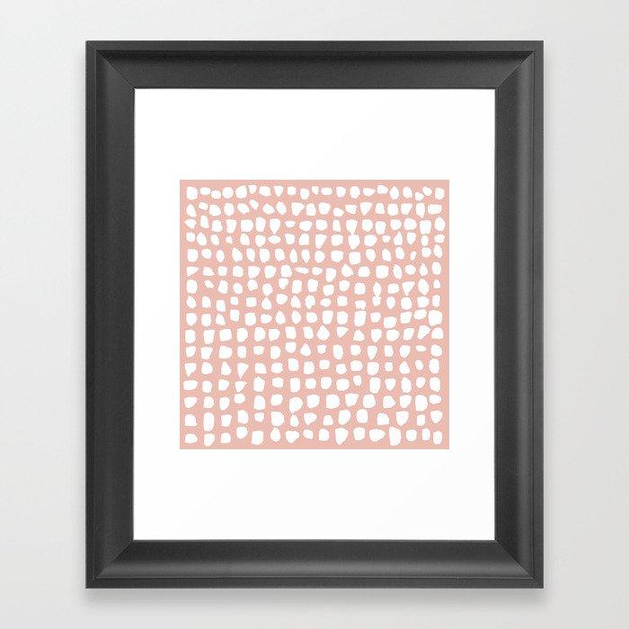 Dots (Pink) Gerahmter Kunstdruck