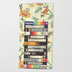 VHS & Entry Hall Wallpaper Beach Towel