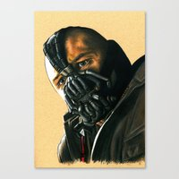 bane Canvas Prints featuring BANE by csmithart