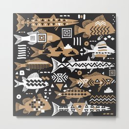 Boho Fishes II. Metal Print