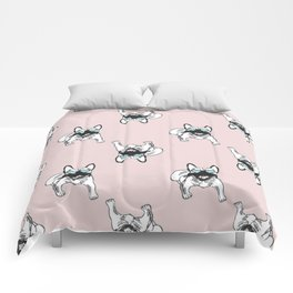 Blush pink Frenchies Comforters