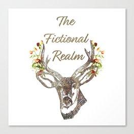The Fictional Realm Blog Logo Canvas Print