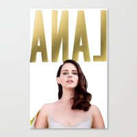 lana del rey Canvas Prints featuring Anal Del Rey by #MadeByTylord