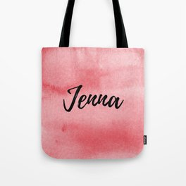 Red Watercolor Jenna Tote Bag