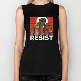 "Official ""RESIST"" Fists (Dark) Biker Tank"