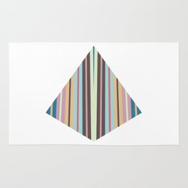 triangle meets strips Rug