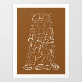 Dalek Nouveau Art Print