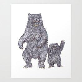 Bear Tricks Art Print