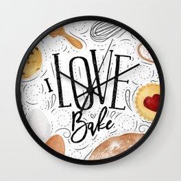 I love bake Wall Clock