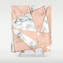 Marble Geometry 050 Shower Curtain