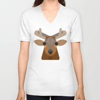 elk V-neck T-shirts featuring Elk by A.D.