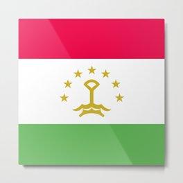 Tajikistan flag emblem Metal Print