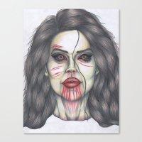 ultraviolence Canvas Prints featuring ULTRAVIOLENCE by Jeremy Cain