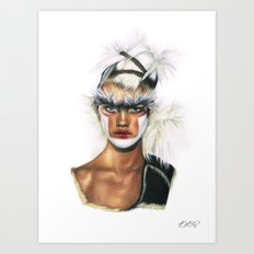 Fashion High. Art Print