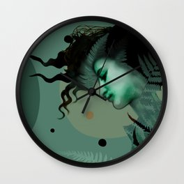 The Girl and the Moon (2) Wall Clock