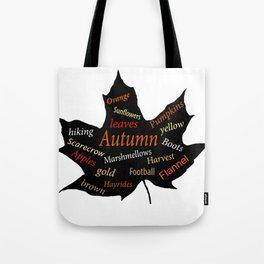 Autumn Leaf Word Bubble Tote Bag