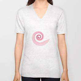 Red black spirale 5 Unisex V-Neck