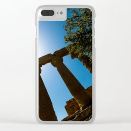 ruined temple Clear iPhone Case