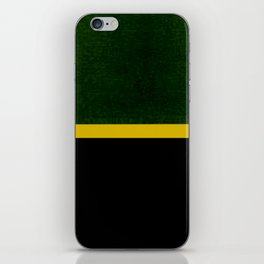 Green, Gold And Black Color Block iPhone Skin