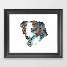 Brush Breeds-Australian Shepherd Framed Art Print