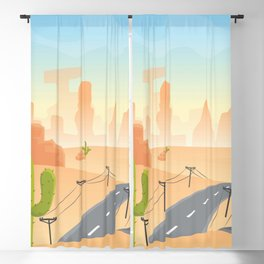 Down Those Dirty and Dusty Trails Blackout Curtain