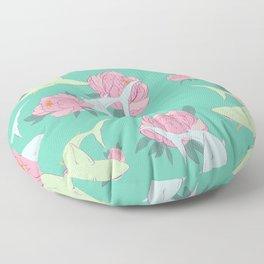 Floral Shark Floor Pillow