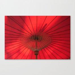 Red Parasol Canvas Print