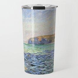 1882-Claude Monet-Shadows on the Sea. The Cliffs at Pourville-57 x 80 Travel Mug