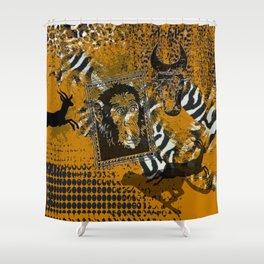Safari sketch Shower Curtain