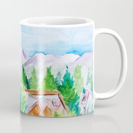 Vail Village Colorado Watercolor Coffee Mug