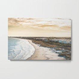 colorful, coastal, airial beach sunset photography, California boho art / print Metal Print