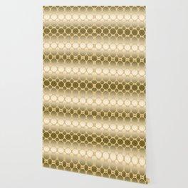 Gold polka dot pattern Wallpaper