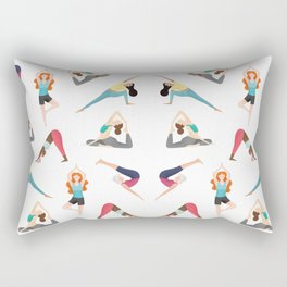 Yoga Pattern Rectangular Pillow